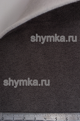 Алькантара на подложке на поролоне со спанбондом Стандарт ГРАФИТ ширина 1,5м толщина 3,5мм