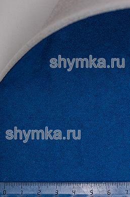 Алькантара на подложке на поролоне со спанбондом Стандарт СИНЯЯ ширина 1,5м толщина 3,5мм