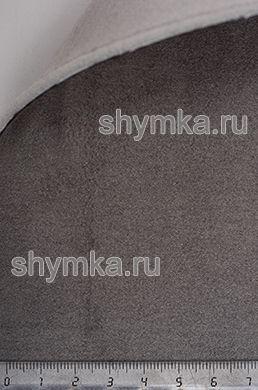 Алькантара на подложке на поролоне со спанбондом Премиум ТЕМНО-СЕРАЯ ширина 1,5м толщина 3,5мм
