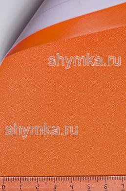 Автовинил с каналами Алмазная крошка ОРАНЖЕВАЯ ширина 1,5м толщина 180 микрон