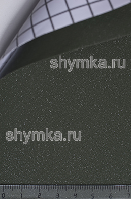 Автовинил с каналами Алмазная крошка ХАКИ ширина 1,5м толщина 180 микрон