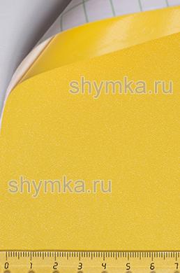 Автовинил с каналами Алмазная крошка ЖЕЛТАЯ ширина 1,5м толщина 180 микрон