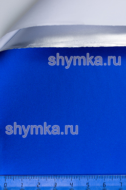 Автовинил с каналами Nippon Матовый Хром СИНИЙ ширина 1,5м толщина 180 микрон