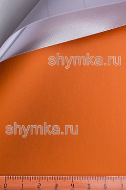 Автовинил с каналами Nippon Матовый Хром СВЕТЛО-ОРАНЖЕВЫЙ ширина 1,5м толщина 180 микрон