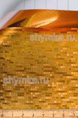 Автовинил с каналами Матрица ХРОМ МЕДЬ ширина 1,5м толщина 180 микрон