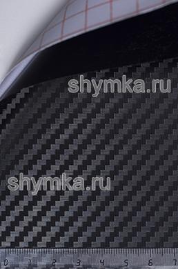 Автовинил с каналами Nippon Карбон 3D ЧЕРНЫЙ ширина 1,5м толщина 150 микрон
