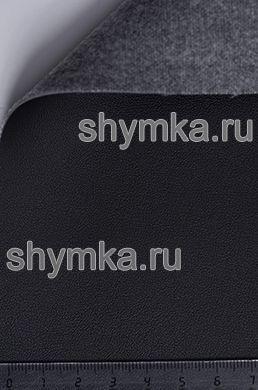 Экокожа Alba Rustika №501 ЧЕРНАЯ ширина 1,4м толщина 1,2мм