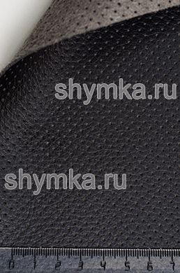 Eco microfiber leather with perforation Altona PC 2101 BLACK thickness 1.5mm width 1,4m