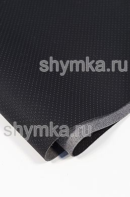 Eco microfiber leather with perforation Dakota NEW BLACK thickness 1,4mm width 1,38m