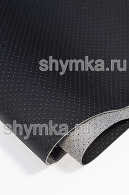 Eco microfiber leather with perforation Standart BLACK width 1,4m thickness 1,3mm