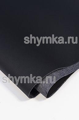 Экокожа на микрофибре Швайцер Наппа 0500 JET BLACK толщина 1,2мм ширина 1,35м