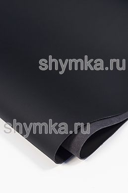 Eco microfiber leather Nappa NEW BLACK thickness 1.5mm width 1.4m