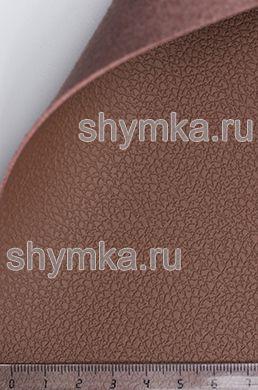 Экокожа на микрофибре Dakota D 2186 КОРИЧНЕВАЯ ширина 1,4м толщина 1,5мм