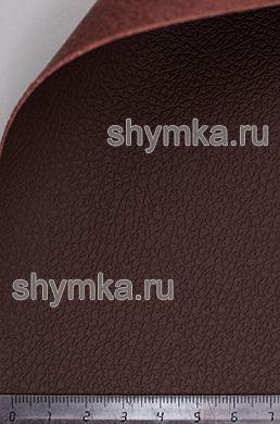 Экокожа на микрофибре Dakota D 2192 ТЕМНО-КОРИЧНЕВАЯ ширина 1,4м толщина 1,5мм