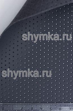 Экокожа на микрофибре перфорированная Nappa PN 2107 ГРАФИТ ширина 1,4м толщина 1,5мм