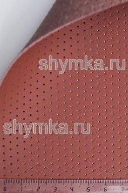 Экокожа на микрофибре перфорированная Nappa PN 2108 ТЕРРАКОТ ширина 1,4м толщина 1,5мм
