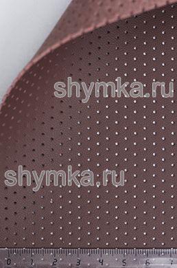 Экокожа на микрофибре перфорированная Nappa PN 2122 КАШТАН ширина 1,4м толщина 1,5мм