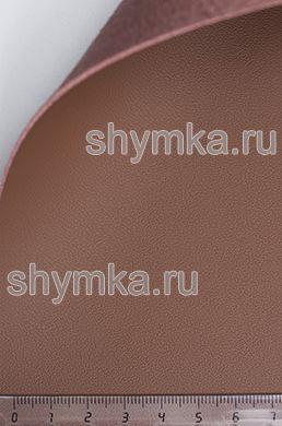 Экокожа на микрофибре Nappa N 2186 КОРИЧНЕВАЯ ширина 1,4м толщина 1,5мм