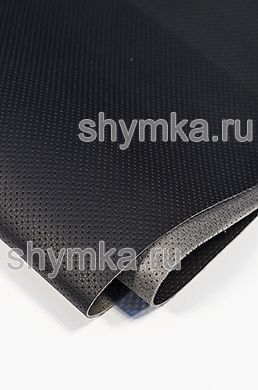 Eco microfiber leather with perforation Nova 801 BLACK thickness 1,5mm width 1,4m