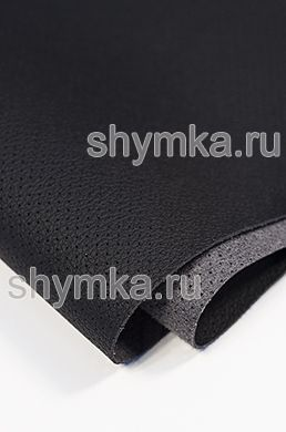 Eco microfiber leather Schweizer BMW with perforation 0500 BLACK thickness 1.3mm width 1.35m