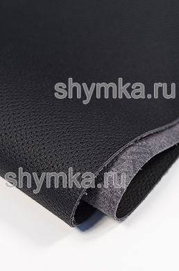 Eco microfiber leather FOR STEERING WHEEL Schweitzer BMW with false perforation 0500 BLACK thickness 1,4mm width 1,35m