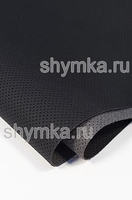 Eco microfiber leather FOR STEERING WHEELS Schweizer Mercedes with perforation 0500 BLACK thickness 1.5mm width 1.35m