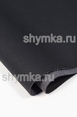 Eco microfiber leather FOR STEERING WHEEL Schweitzer Mercedes with false perforation 0500 BLACK thickness 1,5mm width 1,35m