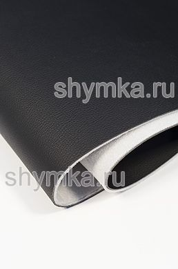Eco microfiber leather Standart BLACK on foam 3mm (THREE!!!) with spunbond width 1,4m thickness 4,3mm