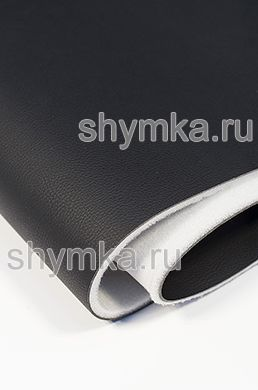 Eco microfiber leather Standart BLACK on foam 5mm with spunbond width 1,4m thickness 6,3mm
