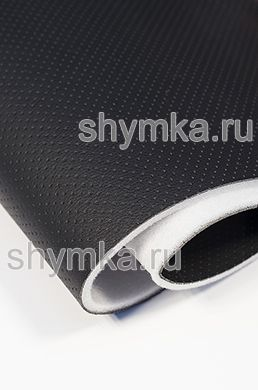 Eco microfiber leather with perforation Standart BLACK on foam 5mm with spunbond width 1,4m thickness 6,3mm