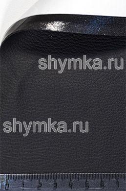 Vinyl eco leather on glue Oregon STRETCH BLACK NEW width 1,35m thickness 0,65mm