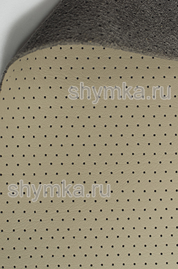 Экокожа на микрофибре перфорированная Altona РR 2140 СЕРО-БЕЖЕВАЯ ширина 1,4м толщина 1,5мм