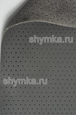 Экокожа на микрофибре перфорированная Altona РR 2155 ТЕМНО-СЕРАЯ ширина 1,4м толщина 1,5мм
