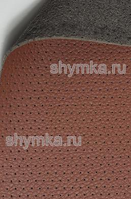 Экокожа на микрофибре перфорированная Altona РС 2162 КРАСНО-КОРИЧНЕВАЯ ширина 1,4м толщина 1,5мм