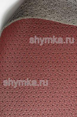 Экокожа на микрофибре перфорированная Altona РС 2176 КРАСНО-КОРИЧНЕВАЯ ширина 1,4м толщина 1,5мм