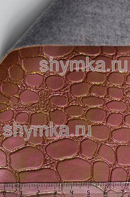 Винилискожа Калейдоскоп Reptail Croko №4491 ХАМЕЛЕОН GOLD ширина 1,4м толщина 1,2мм