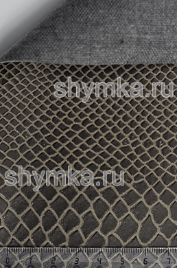 Винилискожа Калейдоскоп Reptail Cobra №4498 ТЕМНО-КОРИЧНЕВАЯ ширина 1,4м толщина 1,2мм
