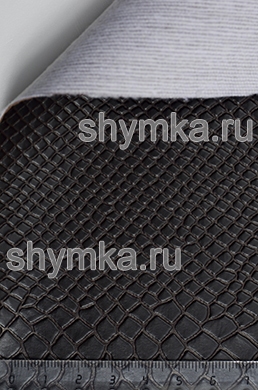 Винилискожа Калейдоскоп Reptail Cobra №4448 ЧЕРНО-КОРИЧНЕВАЯ ширина 1,4м толщина 1,2мм
