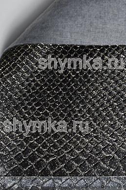 Винилискожа Калейдоскоп Reptail Cobra №4401 ЧЕРНАЯ GOLD ширина 1,4м толщина 1,2мм