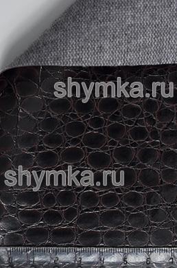 Винилискожа Калейдоскоп Reptail Python №4448 ЧЕРНО-БОРДОВАЯ ширина 1,4м толщина 1,2мм