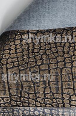 Винилискожа Калейдоскоп Reptail Cayman №4485 БРОНЗА ширина 1,4м толщина 1,2мм