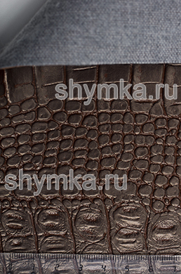Винилискожа Калейдоскоп Reptail Cayman №4452 ТЕМНО-КОРИЧНЕВАЯ ширина 1,4м толщина 1,2мм