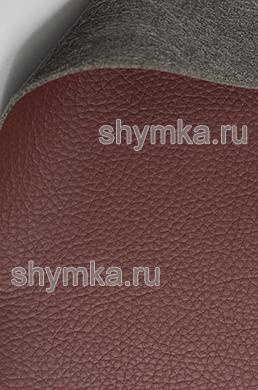Экокожа на микрофибре Altona С 2176 КРАСНО-КОРИЧНЕВАЯ ширина 1,4м толщина 1,5мм
