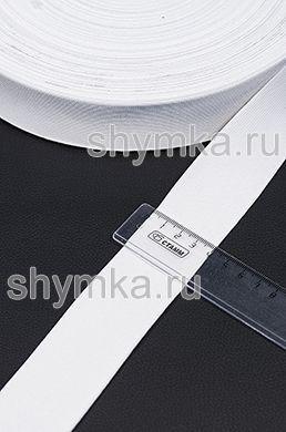 Резинка тканая Стандарт БЕЛАЯ ширина 40мм