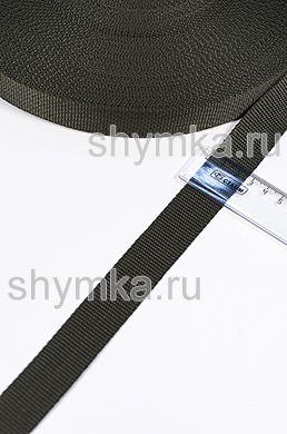 Лента ременная/окантовочная Nova ширина 25мм плотность 14г/м ОЛИВКОВАЯ