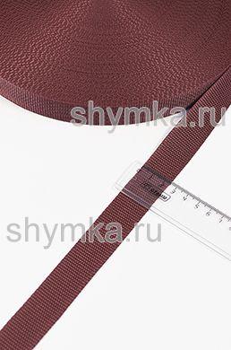 Лента ременная/окантовочная Nova ширина 25мм плотность 14г/м ТЕМНО-БОРДОВАЯ