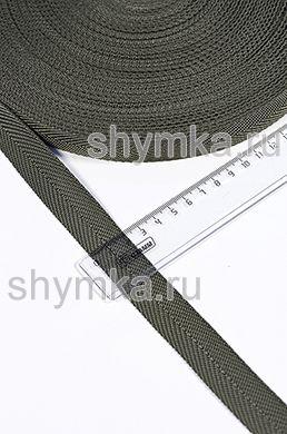 Лента ременная/окантовочная Tefi ширина 22мм плотность 9г/м ЕЛОЧКА ХАКИ
