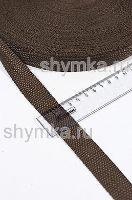ЛЛента ременная/окантовочная Tefi ширина 22мм ОБЛЕГЧЕННАЯ 6,5г/м ТЕМНО-КОРИЧНЕВАЯ