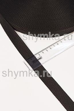 Лента ременная/окантовочная Tefi ширина 22мм плотность 9,6г/м ЧЕРНАЯ