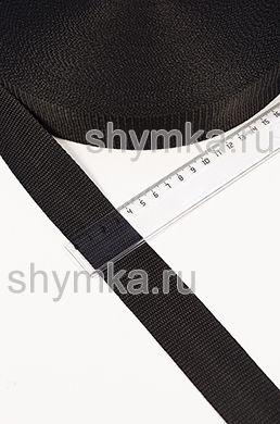 Лента ременная/окантовочная Текс ширина 35мм плотность 17г/м ЧЕРНАЯ